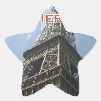 Eiffel Tower Paris France Summer 2016 French Star Sticker