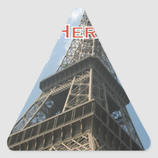 Eiffel Tower Paris France Summer 2016 French Triangle Sticker