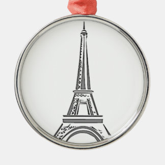 Eiffel Tower Paris French Christmas Ornament