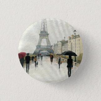 Eiffel Tower | Paris In The Rain 1 Inch Round Button