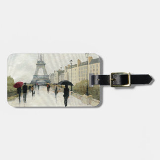 Eiffel Tower | Paris In The Rain Bag Tag