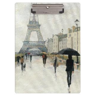 Eiffel Tower | Paris In The Rain Clipboard