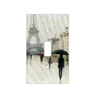 Eiffel Tower | Paris In The Rain Light Switch Cover