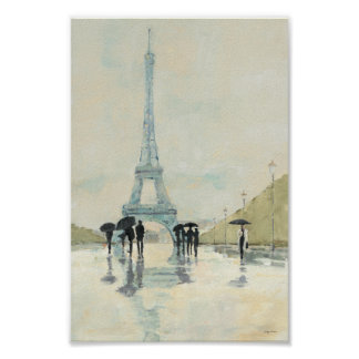 Eiffel Tower | Paris In The Rain Poster
