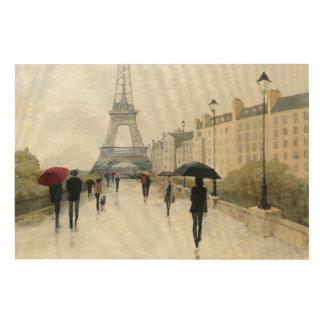 Eiffel Tower | Paris In The Rain Wood Wall Decor