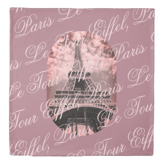 Eiffel Tower Paris La Tour Eiffel Mauve Duvet