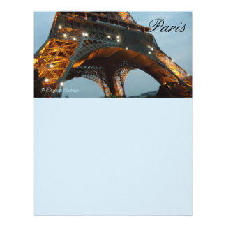 Eiffel Tower Paris letterhead
