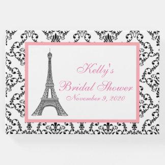 Eiffel Tower Paris Pink Custom Guest Book