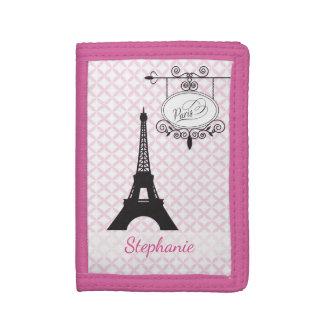 Eiffel Tower Paris Pink Wallet