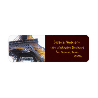 Eiffel Tower, Paris, Return Address Labels