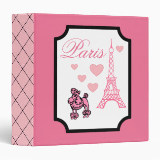 Eiffel Tower Paris Scrapbook Binder