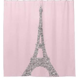 Eiffel Tower Paris Silver Pink Swarovski Crystals