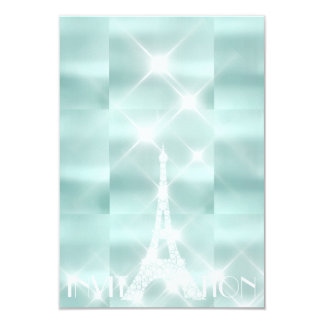 Eiffel Tower Paris Sparkly Stars Tiffany  Diamond Card