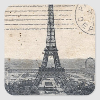 Eiffel Tower Paris Square Sticker