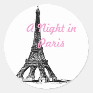 Eiffel Tower Paris Round Sticker