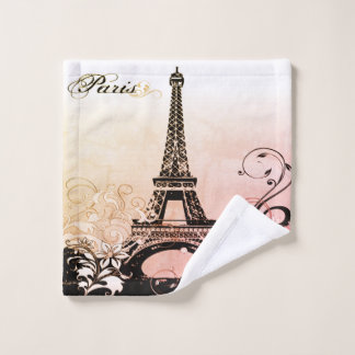Eiffel Tower Paris Wash Cloth