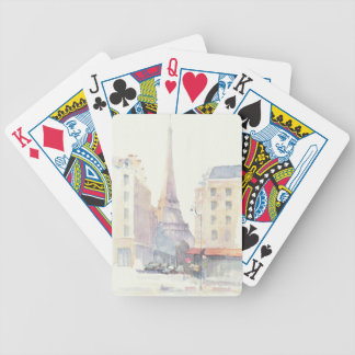 Eiffel Tower | Paris Watercolor Bicycle Playing Cards