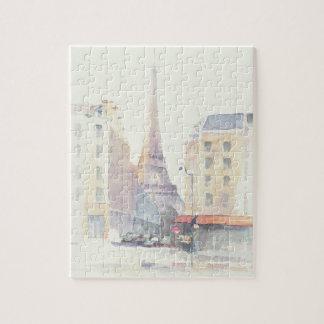 Eiffel Tower | Paris Watercolor Jigsaw Puzzle