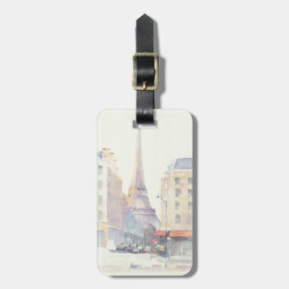 Eiffel Tower | Paris Watercolor Luggage Tag