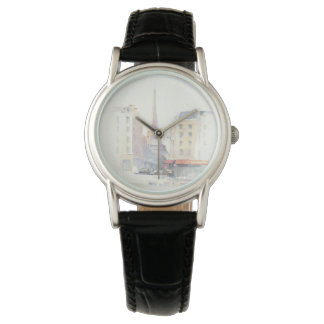 Eiffel Tower | Paris Watercolor Wrist Watches