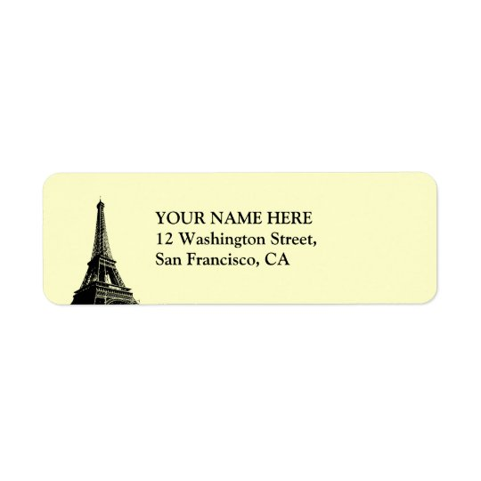 Eiffel Tower - Parisian Mermories Return Address Label