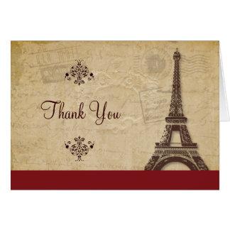 Eiffel Tower Parisian Thank You Card