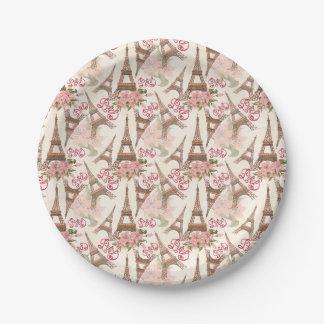 Eiffel Tower Pattern Paper Plate