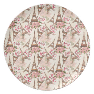 Eiffel Tower Pattern Plate