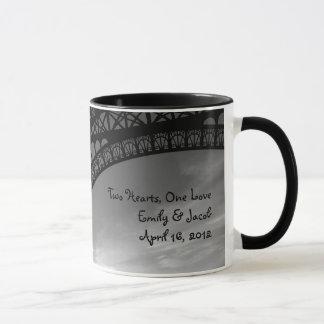 Eiffel Tower Personalized Bride & Groom Mug