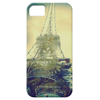 Eiffel Tower Phone Case, Beige and Green Case For The iPhone 5