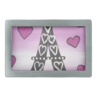 eiffel tower pink belt buckles