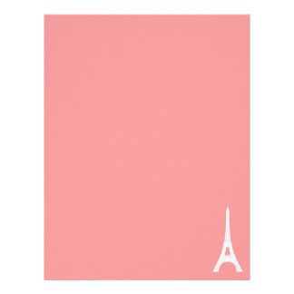 Eiffel Tower Pink Letterhead Template