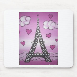 eiffel tower pink mouse pad