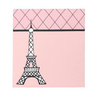 Eiffel Tower Pink Paris School Notepad Gift