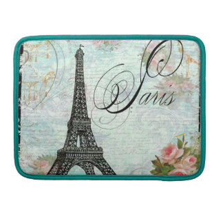 Eiffel Tower & Pink Roses Macbook Pro Case