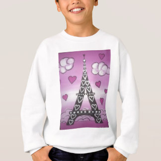 eiffel tower pink sweatshirt