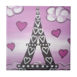 eiffel tower pink tile