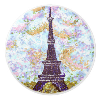 Eiffel Tower Pointillism ceramic drawer knobs Ceramic Knob