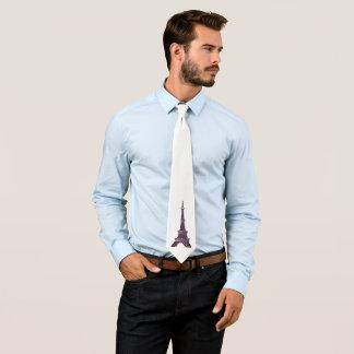 Eiffel Tower Pointillism necktie