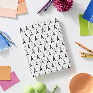 Eiffel Tower Polka Dots & Hearts Pattern iPad Cover