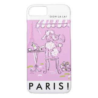 Eiffel tower poodle in Paris. iPhone 7 Case