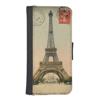 Eiffel Tower Postcard Wallet Phone Case