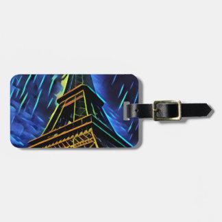 Eiffel Tower Rain Luggage Tag