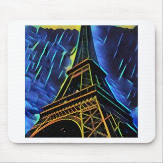 Eiffel Tower Rain Mouse Pad
