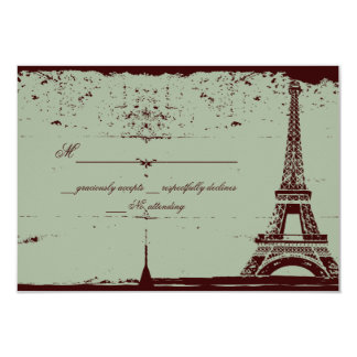 Eiffel Tower RSVP Wedding Cards