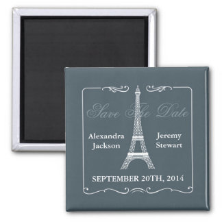 Eiffel Tower Save the Date Magnet