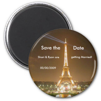eiffel-tower, Save the Date Magnet