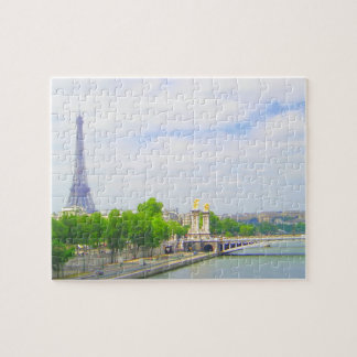 Eiffel Tower & Seine, Paris France Puzzles