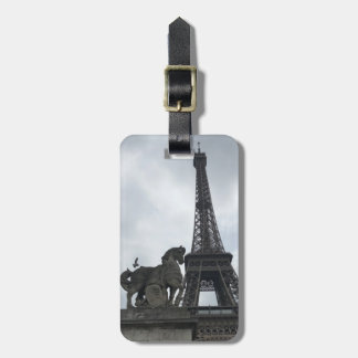 Eiffel Tower Silhouette Luggage Tag