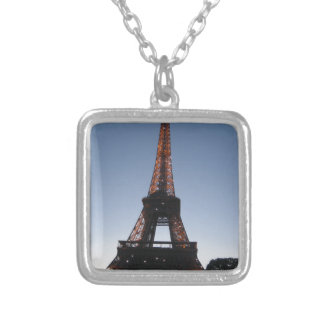 Eiffel Tower Silver Plated Necklace